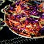 Beautiful on the inside: Watermelon radish and purple cabbage slaw