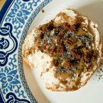 bagel with sesame paste
