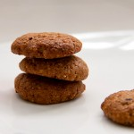 Ginger cookies with apricot, almond butter, oats, and spelt