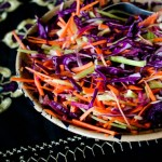 purple cabbage watermelon radish slaw